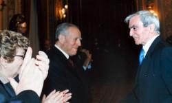Nel 2001 Carlo Rambaldi incontra l'allora Presidente della Repubblica Carlo Azeglio Ciampi