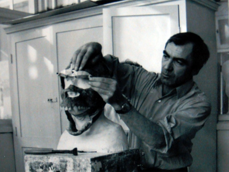 Carlo al lavoro negli studi della MGM