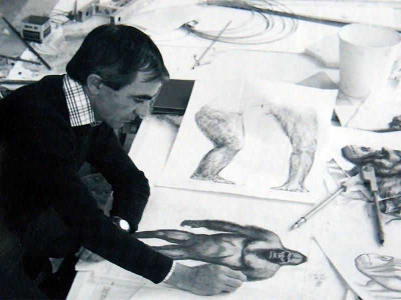 Carlo nel suo atelier presso gli studi della MGM