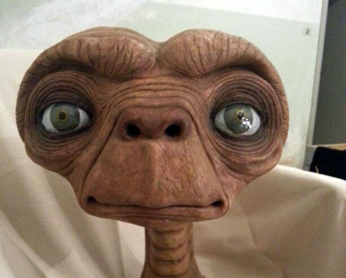 La testa di ET