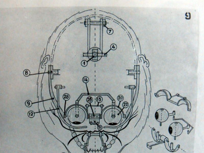 Prospetto della meccanica della testa di Kong