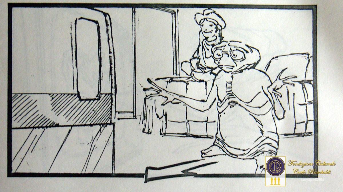 Particolare tratto dallo storyboard originale di ET