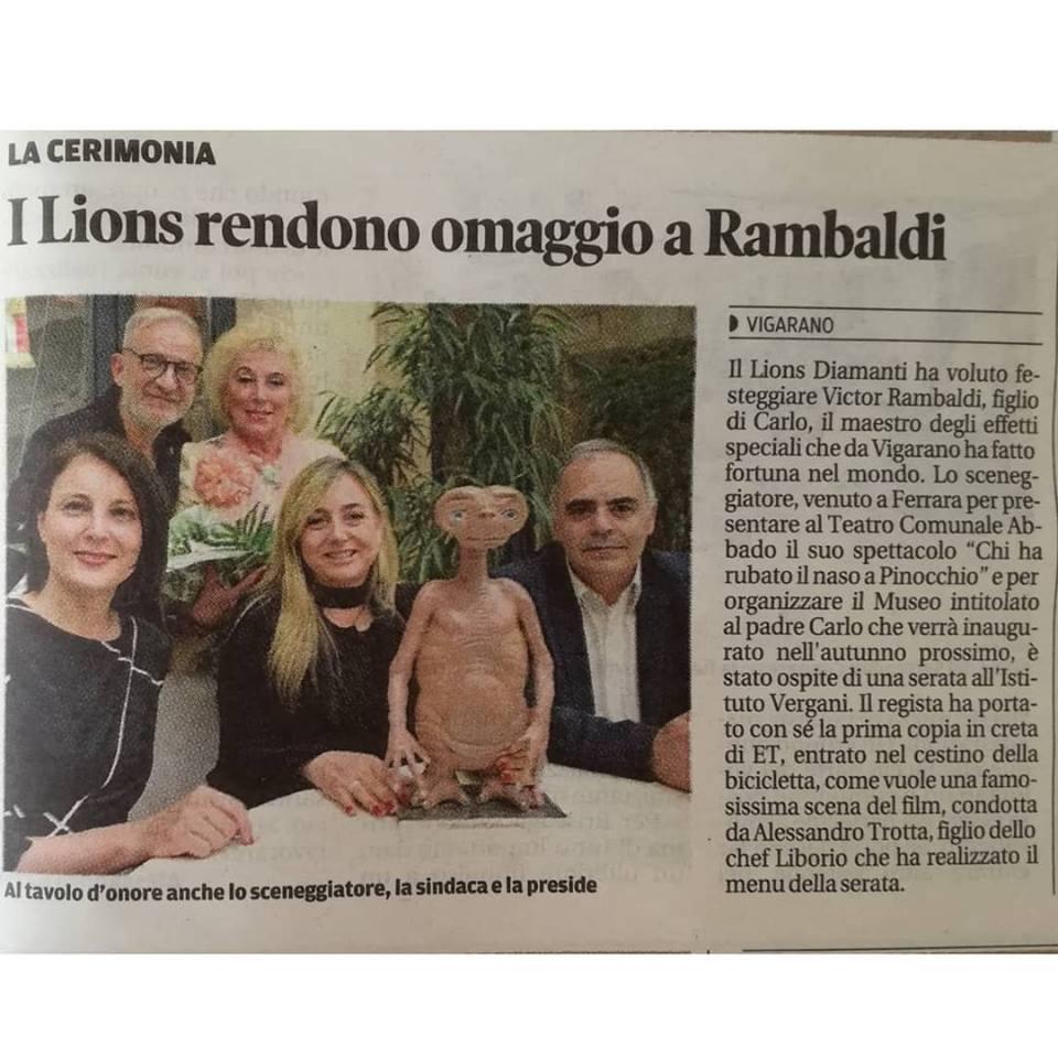 i lions rendono omaggio a Rambaldi