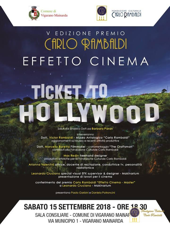 ticket to hollywood - fondazione carlo rambaldi - locandina